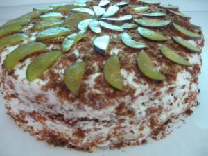 нежный кокосовый торт